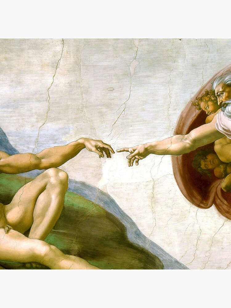 The Creation of Adam Painting by Michelangelo Sistine Chapel by podartist