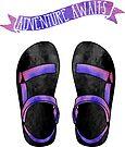 Purple Ombre Tevas // Adventure Awaits von its-anna