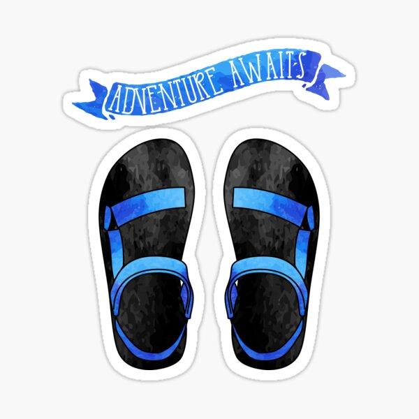 Blue Ombre Tevas // Adventure Awaits Sticker