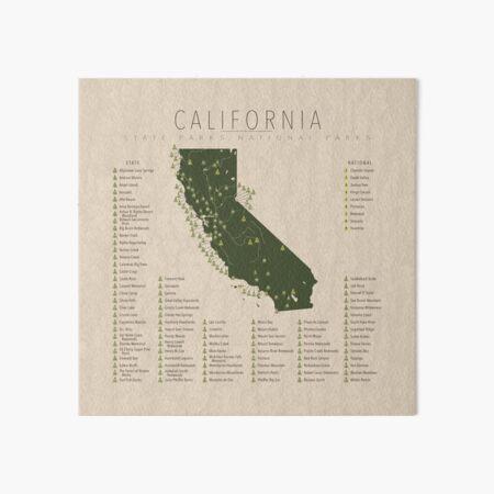 California Parks Art Board Print