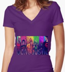 Young Justice 2 Women's Fitted V-Neck T-Shirt