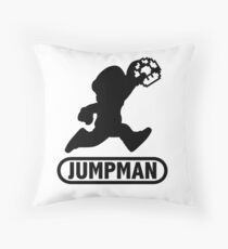 Jumpman Throw Pillow