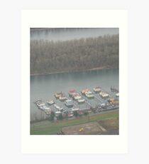 houseboats Art Print