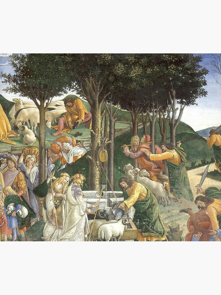 Trials of Moses Painting by Botticelli - Sistine Chapel by podartist