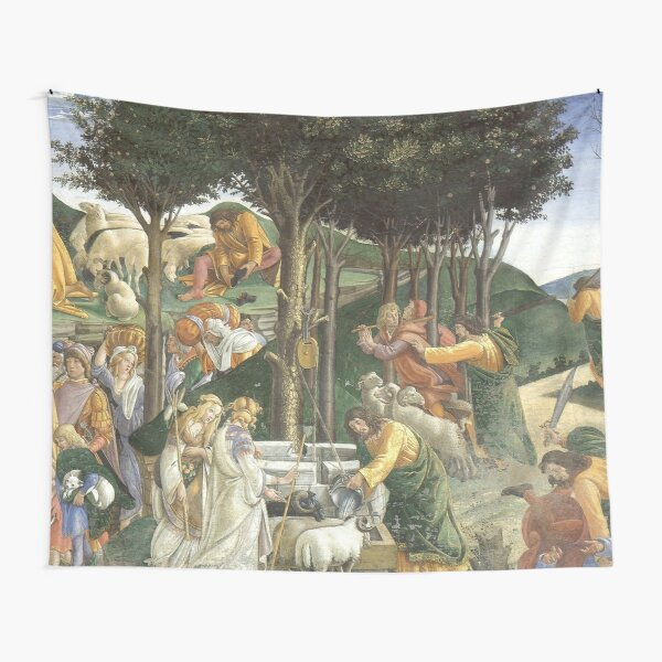Trials of Moses Painting by Botticelli - Sistine Chapel Tapestry