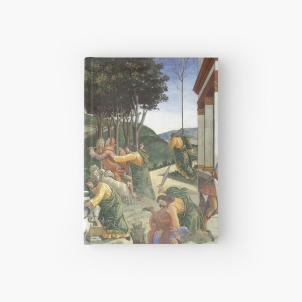 Trials of Moses Painting by Botticelli - Sistine Chapel Hardcover Journal