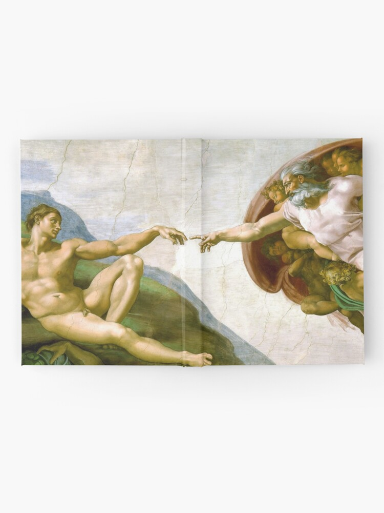 Alternate view of The Creation of Adam Painting by Michelangelo Sistine Chapel Hardcover Journal