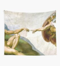 The Creation of Adam Painting by Michelangelo Sistine Chapel Wall Tapestry