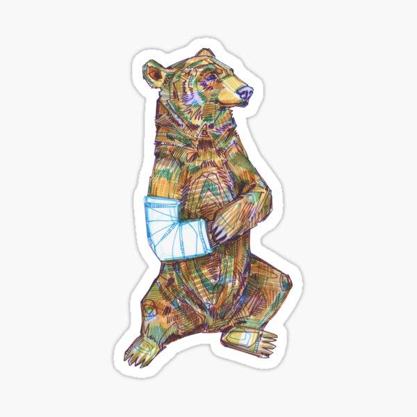 Broken Arm Bear Drawing - 2017 Sticker