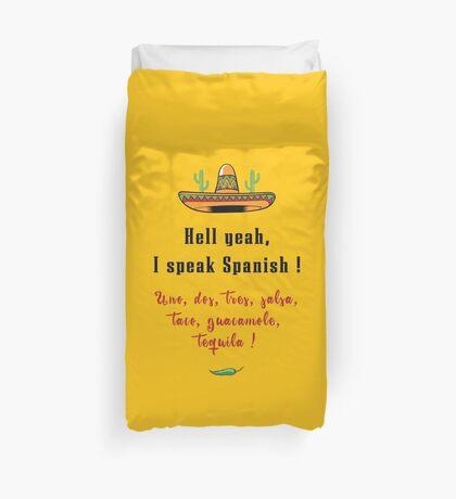 Hölle Ja, sprich Spanisch Bettbezug