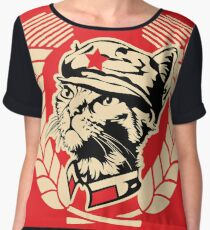 The Mini Kitty Commune Flag Women's Chiffon Top
