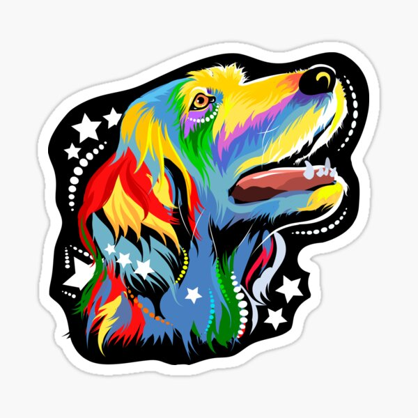 The dog in the style of pop art. Colored setter dog Sticker
