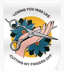 Póster Cortando mis dedos