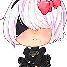 «2b cute chibi Nier automata videogame sticker» de linkitty
