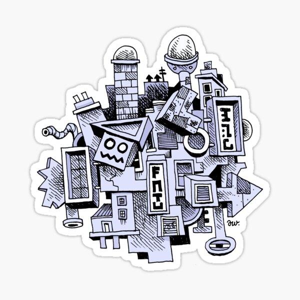Jumbled City Sticker