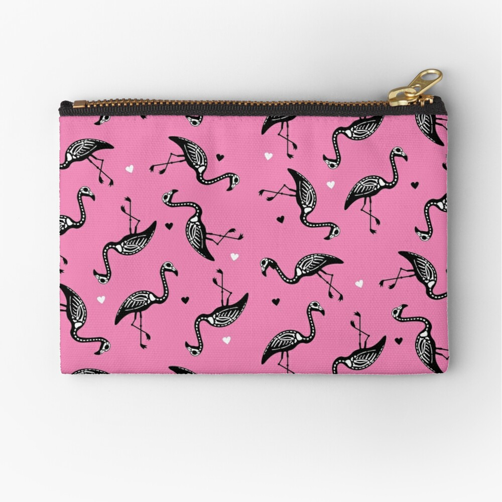 Pink Skelingo Zipper Pouch
