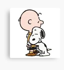 The Peanuts - Charlie Brown and Snoopy Canvas Print