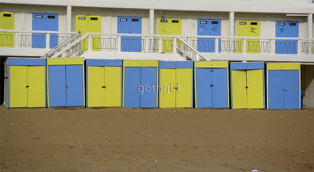 Beach Huts by gothgirl