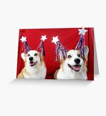 Star Spangled Corgis Greeting Card