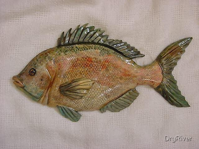 """""""Hottentot"""" Wooden Fish- Living Waters Series by DryRiver"""