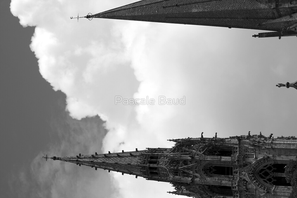 The spires of the Cathedral of Chartres, France  by Pascale Baud
