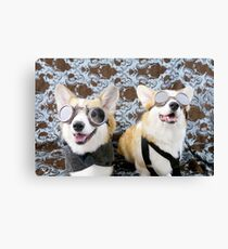 Steampunk Corgis  Canvas Print