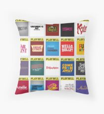 Playbill Collage 2 Throw Pillow