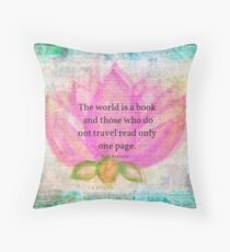Saint Augustine BOOK Travel Quote Throw Pillow