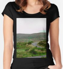 Winding Road in Donegal, Ireland Women's Fitted Scoop T-Shirt