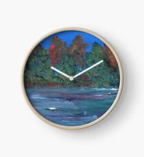 Autumn Lake Clock