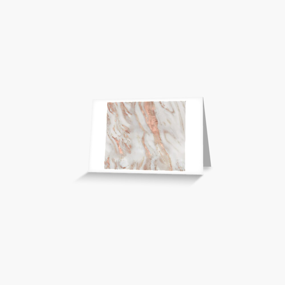 Civezza - rose gold marble Greeting Card