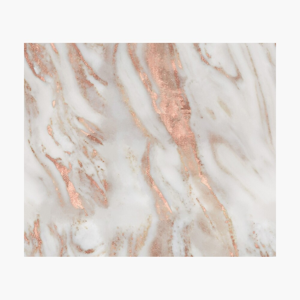 Civezza - rose gold marble Photographic Print