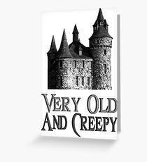 Deacon's old and creepy castle Greeting Card
