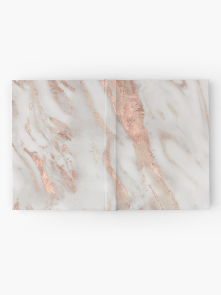 Alternate view of Civezza - rose gold marble Hardcover Journal