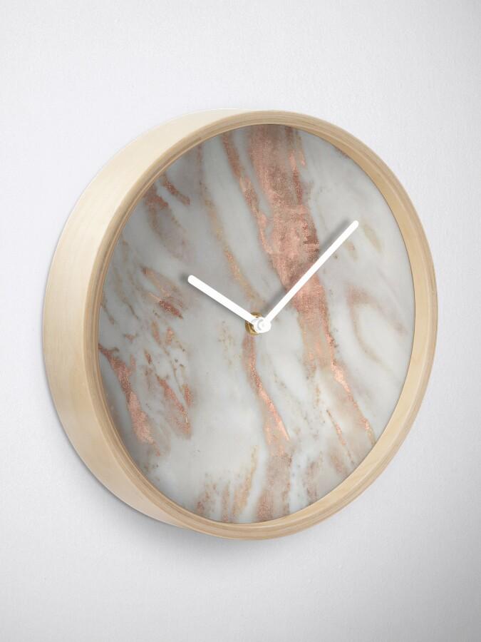 Alternate view of Civezza - rose gold marble Clock