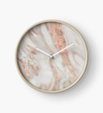 Civezza - marbre rose d'or Horloge