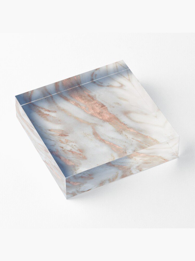 Alternate view of Civezza - rose gold marble Acrylic Block