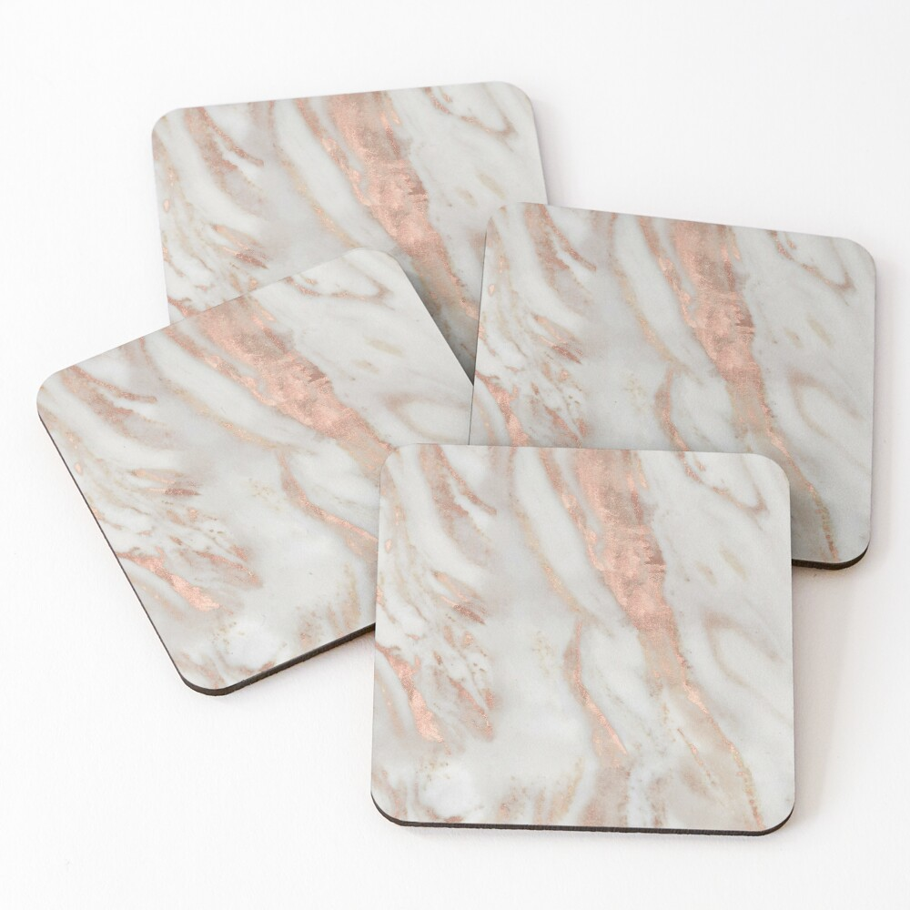 Civezza - rose gold marble Coasters (Set of 4)