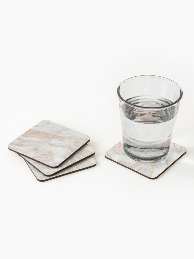 Alternate view of Civezza - rose gold marble Coasters (Set of 4)