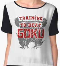 training to beat goku Women's Chiffon Top