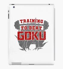 training to beat goku iPad Case/Skin