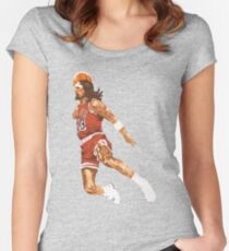 jesus dunk Women's Fitted Scoop T-Shirt