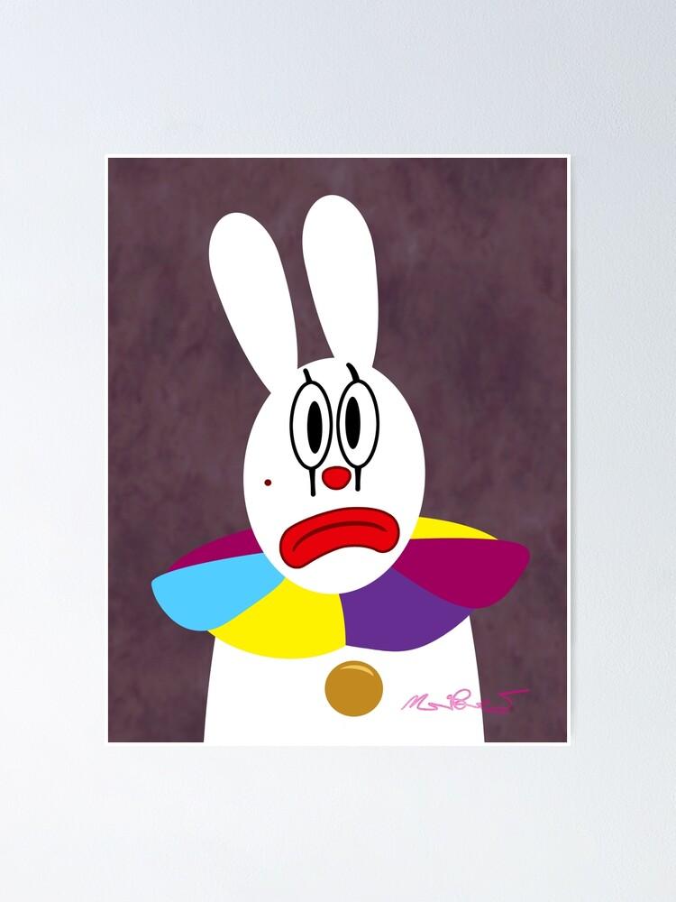Sad White Clown Art Print Home Decor Wall Art Poster C
