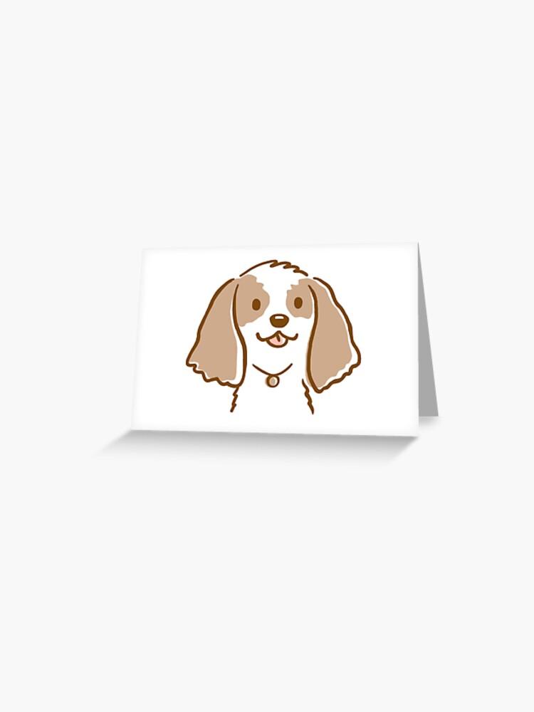 COCKER SPANIEL HAVING A HAIRCUT COMIC DOG  BIRTHDAY GREETINGS NOTE CARD