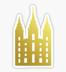 Salt Lake Temple Silhouette Sticker