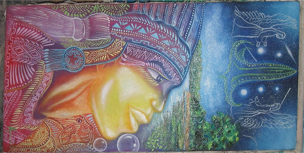 Ayahuasca Native indian Dream painting by AshTree