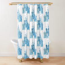 Blaue Wünsche Duschvorhang