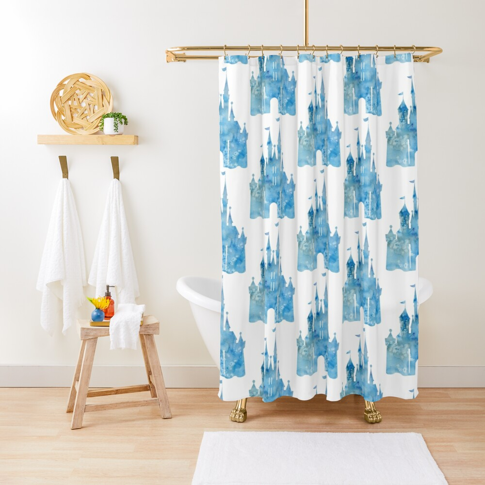 Blue Wishes Shower Curtain