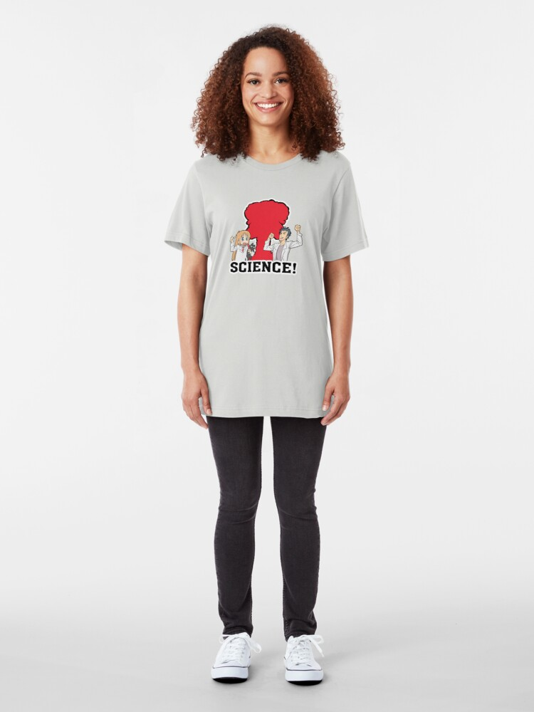 Alternate view of Okabe and Hakase Science Inspired Shirt Slim Fit T-Shirt