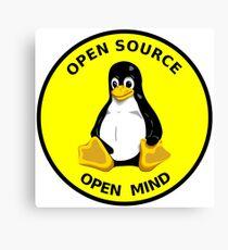 Open Source Open Mind Canvas Print